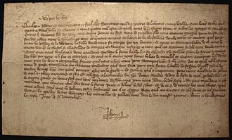 John II of France - Letter of Jean le Bon during his captivity in Windsor, to his son Charles about Pierre de la Batut