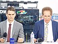 Jeff Gordon Darrell Waltrip FOX Sports Booth.jpg