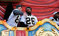 Jeremy Shockey Deuce McAllister Saints victory parade 2.jpg