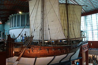Economic history of Indonesia - Arabian dhow modelled after 9th century Belitung shipwreck.