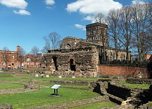 Leicester - St Nicholas's Church and the Jewry Wall.