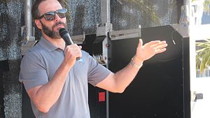 Jimmie Johnson - Image: Jimmie Johnson in the Chevy Fan Zone at Daytona International Speedway