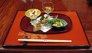 Kaiseki - Kaiseki consists of a sequence of dishes, each often small and artistically arranged