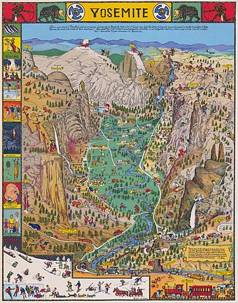 1931 pictorial map by Jo Mora Jo Mora 1931 Yosemite map.jpg