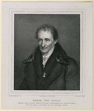 Johann Georg von Dillis - Von Dillis in 1833, from the Liberat Hundertpfund