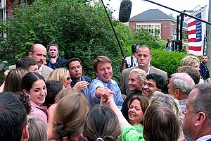 John Edwards - Edwards on the campaign trail in 2004