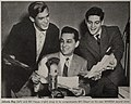 Johnnie Ray, Bill Silbert, and Bill Hayes, 1953.jpg