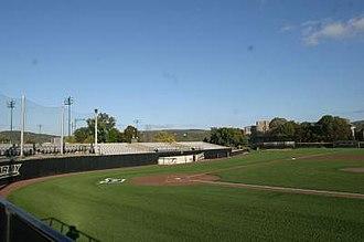 Johnson Stadium at Doubleday Field - Image: Johnson Stadium First Base Side