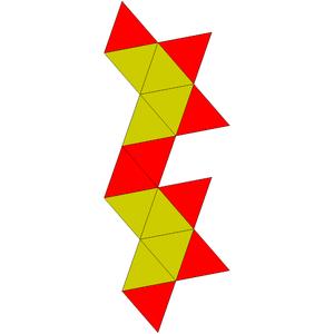 Gyroelongated square bipyramid - Image: Johnson solid 17 net