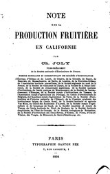 Joly - Note sur la production fruitière en Californie.djvu
