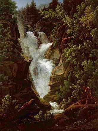 """Letters Written in Sweden, Norway, and Denmark - """"Waterfall"""" by Joseph Anton Koch (1796)"""