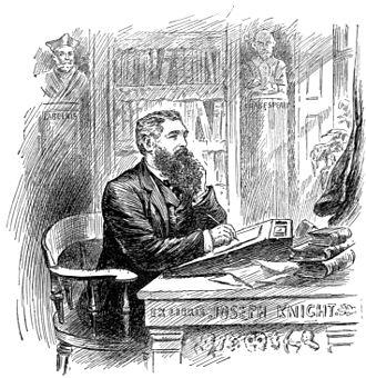 Joseph Knight (critic) - Joseph Knight, from a book plate