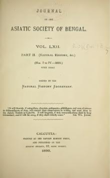 Journal of the Asiatic Society of Bengal Vol 62, Part 2.djvu