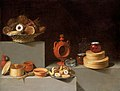 Juan van der Hamen - Still Life with Sweets and Pottery, 1627 E11640.jpg