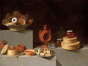 Still Life with Sweets - Image: Juan van der Hamen Still Life with Sweets and Pottery, 1627 E11640