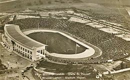 Luftbild des überfüllten Stadions