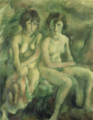 JulesPascin-1925-Two Swiss Girls.png