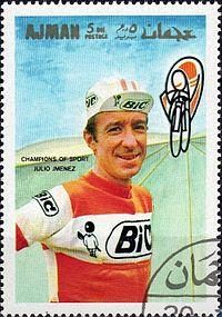 Julio Jiménez 1969 Ajman stamp.jpg