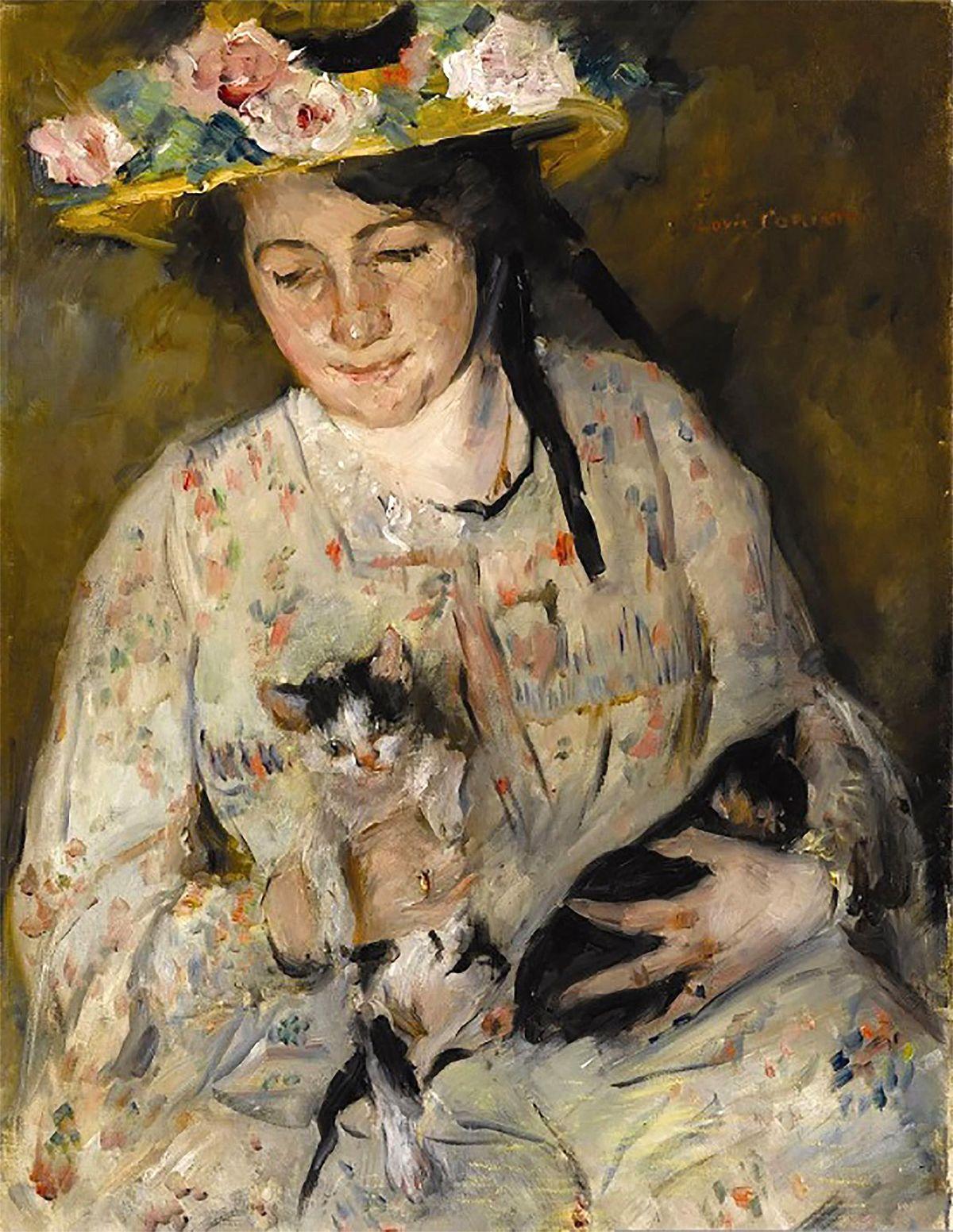 Jeune femme avec des chats — Wikipédia