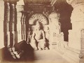 KITLV 92165 - Unknown - Indra sculpture in the Kailasa temple in a cave near Ellora in India - Around 1870.tif