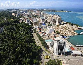 Greater Kota Kinabalu - Kota Kinabalu CBD taken in 2008.