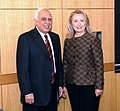 Kapil Sibal and the US Secretary of State, Ms. Hillary Clinton at the US India Higher Education Dialogue, in Washington DC on June 12, 2012.jpg