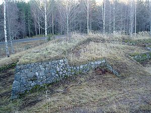 Kärnäkoski Fortress - Ravelin in front of the main wall.