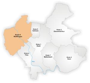 Wülflingen - Image: Karte Winterthur Stadtkreis 6