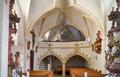 Katholische Filialkirche St. Florian Oberindling 40 Pocking 02 Blick zur Empore.png