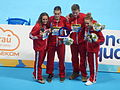 Kazan 2015 - UK wins gold and set WR at mixed medley relay.JPG