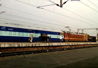 Duvvada railway station - Image: Kaziranga Express (SBC Guwahati) at Duvvada