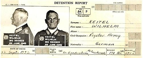 Wilhelm Keitel's detention report from June 1945 KeitelDetentionReport.jpg