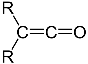 Hermann Staudinger - Figure 1. The general structure of a ketene. R is any group.