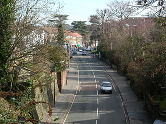 Hassocks - Another eastward view along Keymer Road, from the railway overbridge.