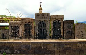 Vanadzor - Old khachkars in Vanadzor