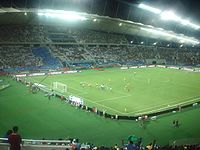 Brazil vs Argentina at Khalif a Stad in Doha.JPG