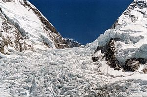 The Khumbu Icefall on Mount Everest