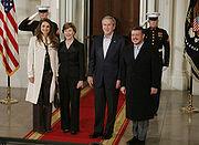 King Abdullah II & Queen Rania of Jordan in WashingtonDC, 2007March06