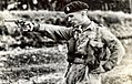 King Hussein firing at Sandhurst, 1952.jpg