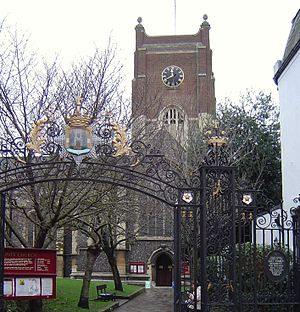 East Surrey Regiment - East Surrey Regiment Memorial Gateway to All Saints Church, Kingston upon Thames