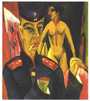 Ernst Ludwig Kirchner - Self-Portrait as a Soldier (1915)
