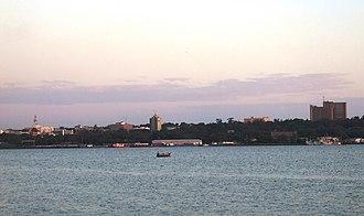 Kisumu County - The skyline of Kisumu City from Lake Victoria