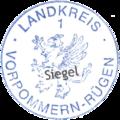 Kleines Landessiegel des Landesteils Vorpommern Landkreis Vorpommern-Rügen 1 laut Haushaltssatzung 2013.png