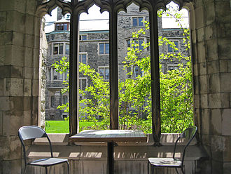 Knox College, Toronto - The cloister windows at Knox typify the collegiate Gothic architectural style.