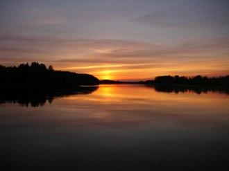 Kobuk River - Sunset over the Kobuk River