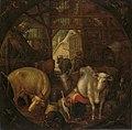 Koeien in een stal; in de vier hoeken heksen Rijksmuseum SK-A-2211.jpeg