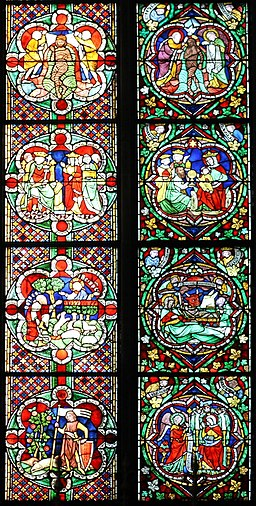 Koelner Dom Juengeres Bibelfenster