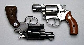 Snubnosed revolver A short barrelled revolver intended for concealment.