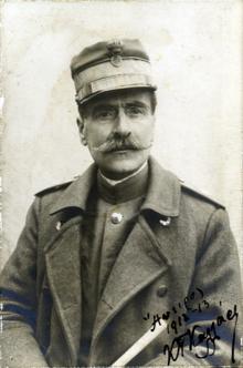 Ο Κωνσταντίνος Καλλάρης, Έλληνας αντιστράτηγος και υπουργός Στρατιωτικών.