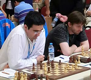 40th Chess Olympiad - Vladimir Kramnik and Alexander Grischuk playing for Russia